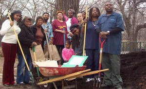 From These Roots: Composting Day in Herbert Von King Park, circa 2009, with VK staff and local gardeners.  Photo: Bernice Green