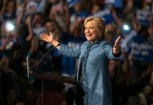 March 15, 2016 - West Palm Beach, Florida, U.S. - Hillary Clinton speaks at Palm Beach County Convention Center in West Palm Beach , Florida on March 15, 2016. (Credit Image: © Allen Eyestone/The Palm Beach Post via ZUMA Wire)