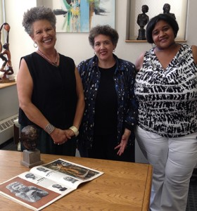 Art historian Dr. Margaret Rose Vendryes, Fern Gillespie, Tammi Lawson assistant curator, Schomburg