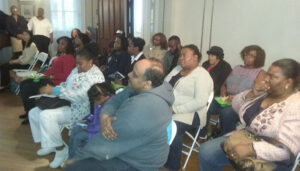 Home Sharing meeting at the Akwabaa mansion in Bedford-Stuyvesant