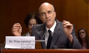 Phillip Marshall presenting at  a U.S. Senate Special Committee on Aging, testimony.
