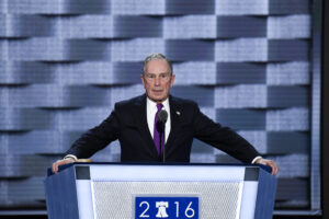 July 27, 2016 - Philadelphia, Pennsylvania, U.S. - MICHAEL BLOOMBERG speaks at the Democratic National Convention in Philadelphia. (Credit Image: © Bill Clark/Congressional Quarterly/Newscom via ZUMA Press)
