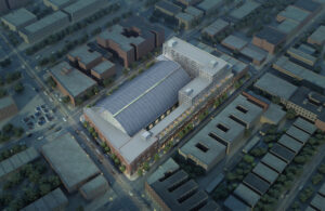 Architectural Rendering of the Bedford Union Armory development project.