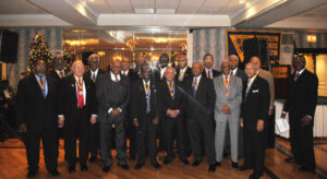 "On Sunday, December 13, the Brooklyn Oldtimers Foundation, Inc., honored several community servants, including this paper, Our Time Press.  The Oldtimers' distinguished history of giving  and support for higher education principles and standards, is unparalleled.  Pictured here, at the event, are the organization's  Board of Directors, including, left to right: Reuben Bankhead, President, Darnley Osborne,James Tempro, Al""Duke"" Welch, Garvey Clarke, Esq., Barry Stanley-Honoree, Sydney Moshette Jr., Charles Foster, James Dupree, Dr. Thomas Leach, J. Nesbitt :""Nes""Benjamin, Edwin Douglas, Dinner Chairman, John Johnson, Chales Coombs, Richard Gibbs, David Hurd, Roger Montgomery, and Lawrence Boatwight, Master of Ceremonies."