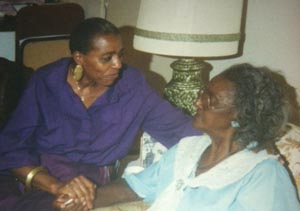 Aminisha  with her mother.