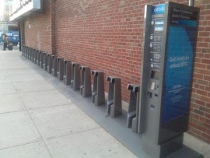 Bike rack at Bedford Ave. & Clifton Pl. next to the Rand Liquor store.