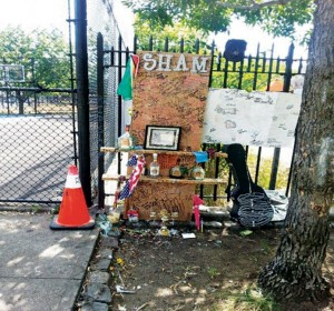 Gang Memorial at Heritage Row Playground on Hart Street