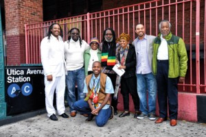 (L-R) Representatives of the Detroit Black Community Food Security Network: Gilliard Farms of Georgia, the Social Justice Learning Institute of Los Angeles, the National Family Farm Coalition, and the B.U.G.s Planning Committee.