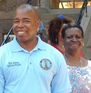 Brooklyn Borough President Eric Adams and Assemblywoman Annette Robinson.