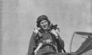 U.S. Pilot, Mr. Alan Golub and his P-51 Mustang fighter plane.