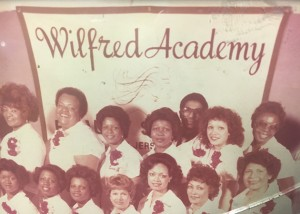Mrs. Eloise Mitchell, top right, in her Wilfred Academy class photo.