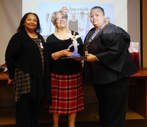 Interfaith CEO/President LaRay Brown, Canon Diane Porter, Community Outreach Officer Sharonnie Perry