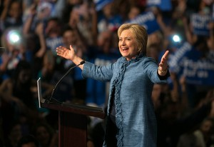 March 15, 2016 - West Palm Beach, Florida, U.S. - Hillary Clinton speaks at Palm Beach County Convention Center in West Palm Beach , Florida on March 15, 2016. (Credit Image: © Allen Eyestone/The Palm Beach Post via ZUMA Wire)