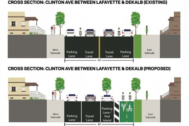 Clinton Avenue Bike Lane Proposal Mired in Politics and Confusion