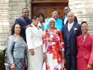Front: Min. Monica Johnson, Loretha Maxwell, First Lady Center Ridge Missionary Baptist Church; Dr. W. Ruth Whitney, First Lady of Mt. Sinai Baptist Church; Rev. Dr. Curtis L. Whitney, Sr. Pastor of Mt. Sinai Baptist Church; Min. Gail Fleming Back: Randy S. Maxwell, Pastor/Teacher of Center Ridge Missionary Baptist Church of Little Rock, Arkansas; , Deaconess Joyce McIver, Min. Estelle Smart, Bro. Richard Simpson