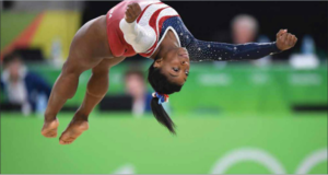 August 9, 2016 - Rio De Janeiro, BRA - US gymnast Simone Biles competes in the floor exercise. The U.S. women's squad captured the gold medal in the team competition.