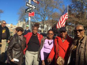 Reginald Shell, Mildred E. Vann, Renee Gregory, a friend, Gloria E. Boyce and Brenda Fryson. Photo: Bernice Green