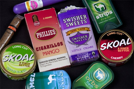 FDA takes action against four tobacco manufacturers for illegal sales of flavored cigarettes labeled as little cigars or cigars