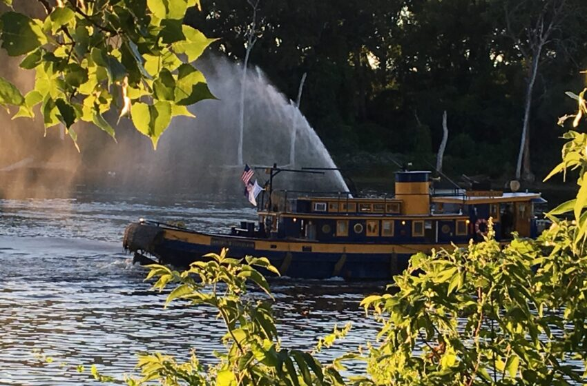 UPSTATE JOURNAL:  A River, Tugboats and a Field of Dreams