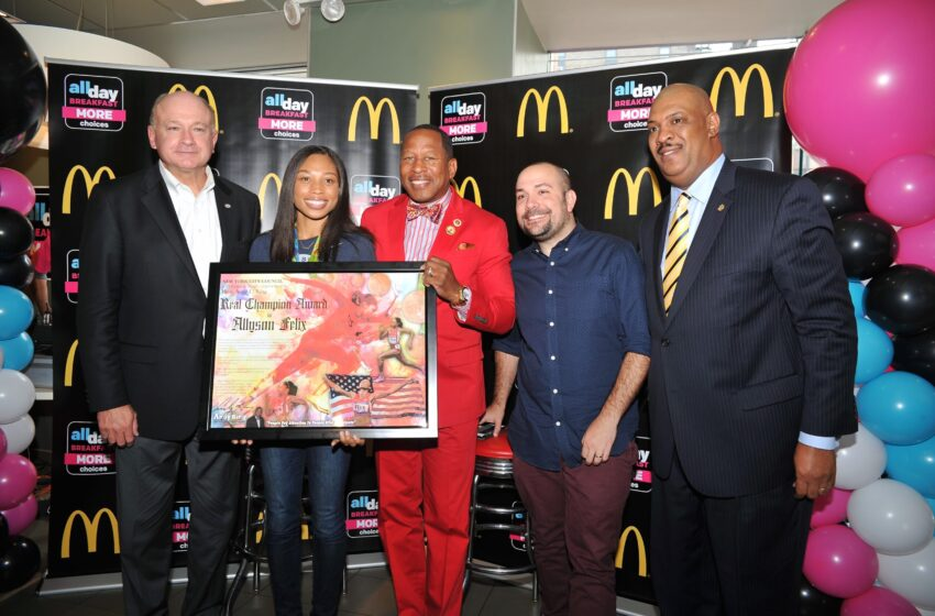 """McDonald's Honors Olympian Allyson Felix at """"All-Day Breakfast"""" Menu Expansion Party"""
