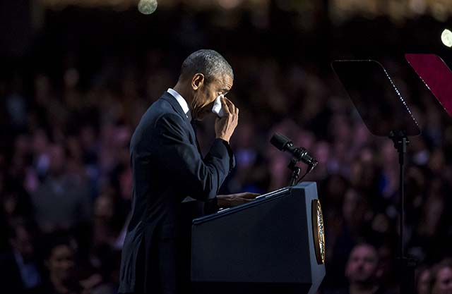 Tears During Obama's Farewell Address