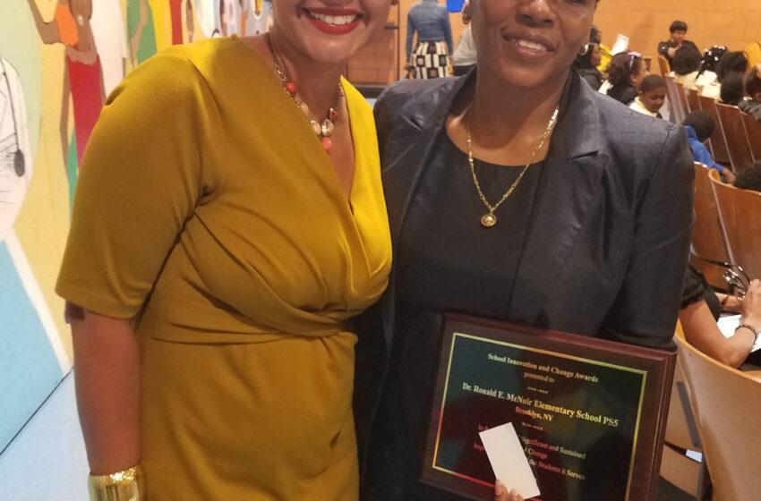 Dr. Ronald E. McNair Public School 5 Receives  National Principal Leadership Institute School  Innovation & Change Award
