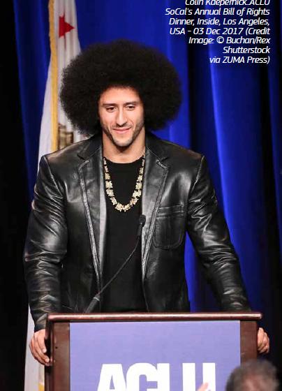 Colin Kaepernick Receives  Muhammad Ali Legacy Award