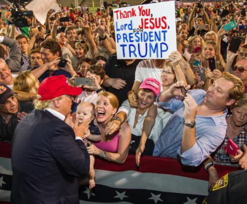 Fanatical Whites Adoring Their Savior:  On Making America White Again