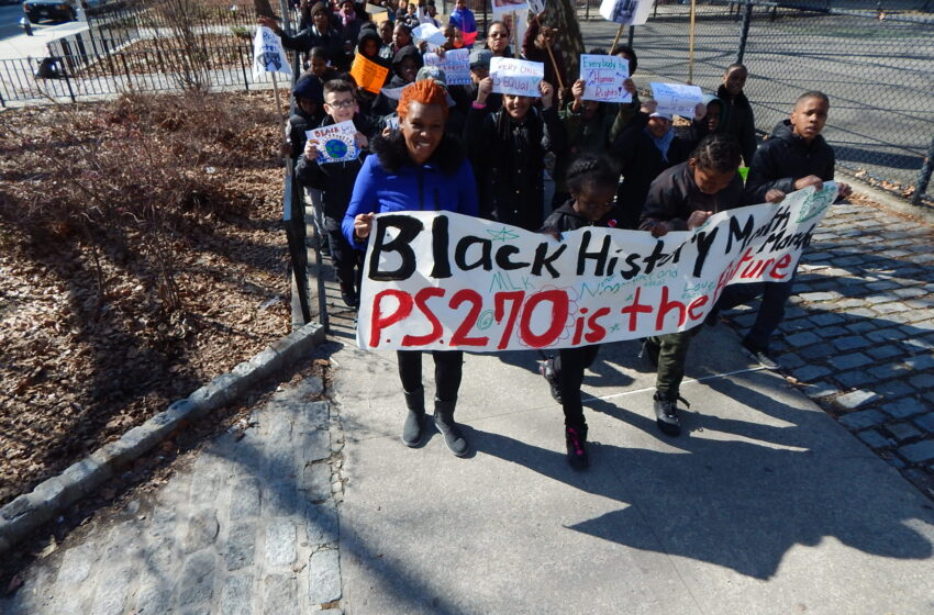 Students' Black History Month Silent March Speaks Volumes