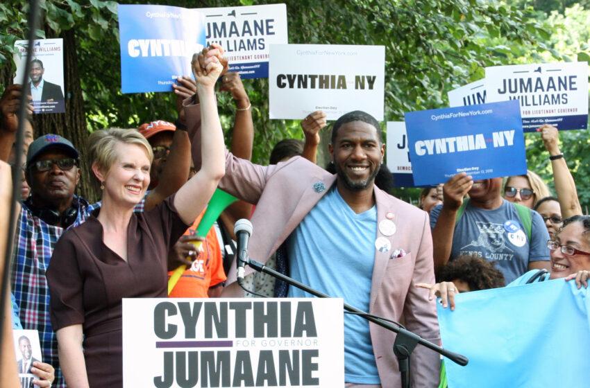 Cynthia Nixon and Jumaane Williams Announce Cross-Endorsement in Brooklyn