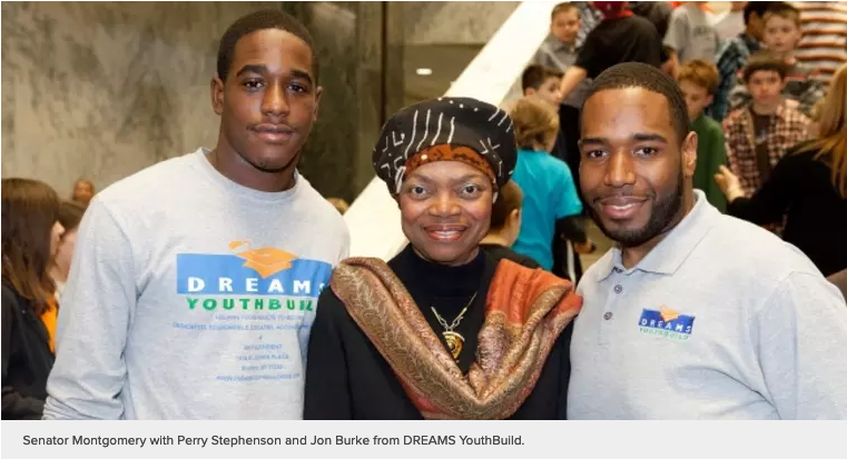 """Senator Montgomery Rallies with Young Advocates in Support of the """"YouthBuild Act"""""""