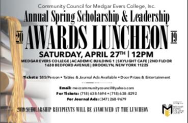 MEC Council Scholarship Luncheon Set for April 27