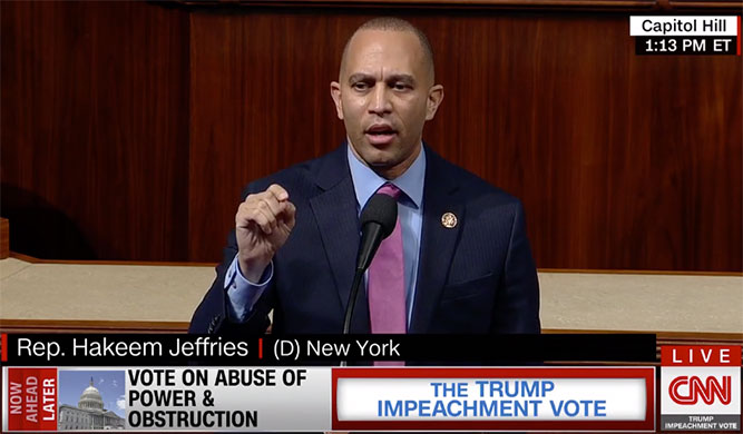 """Rep. Jeffries: """"We Will Impeach Donald John Trump. We Will Clarify That In America, No One Is Above The Law."""""""
