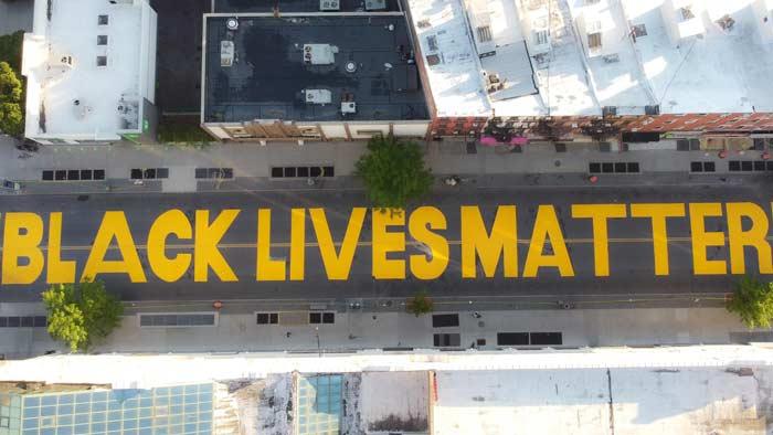 Brooklyn Artists Create New York City's First Black Lives Matter Street Art Mural